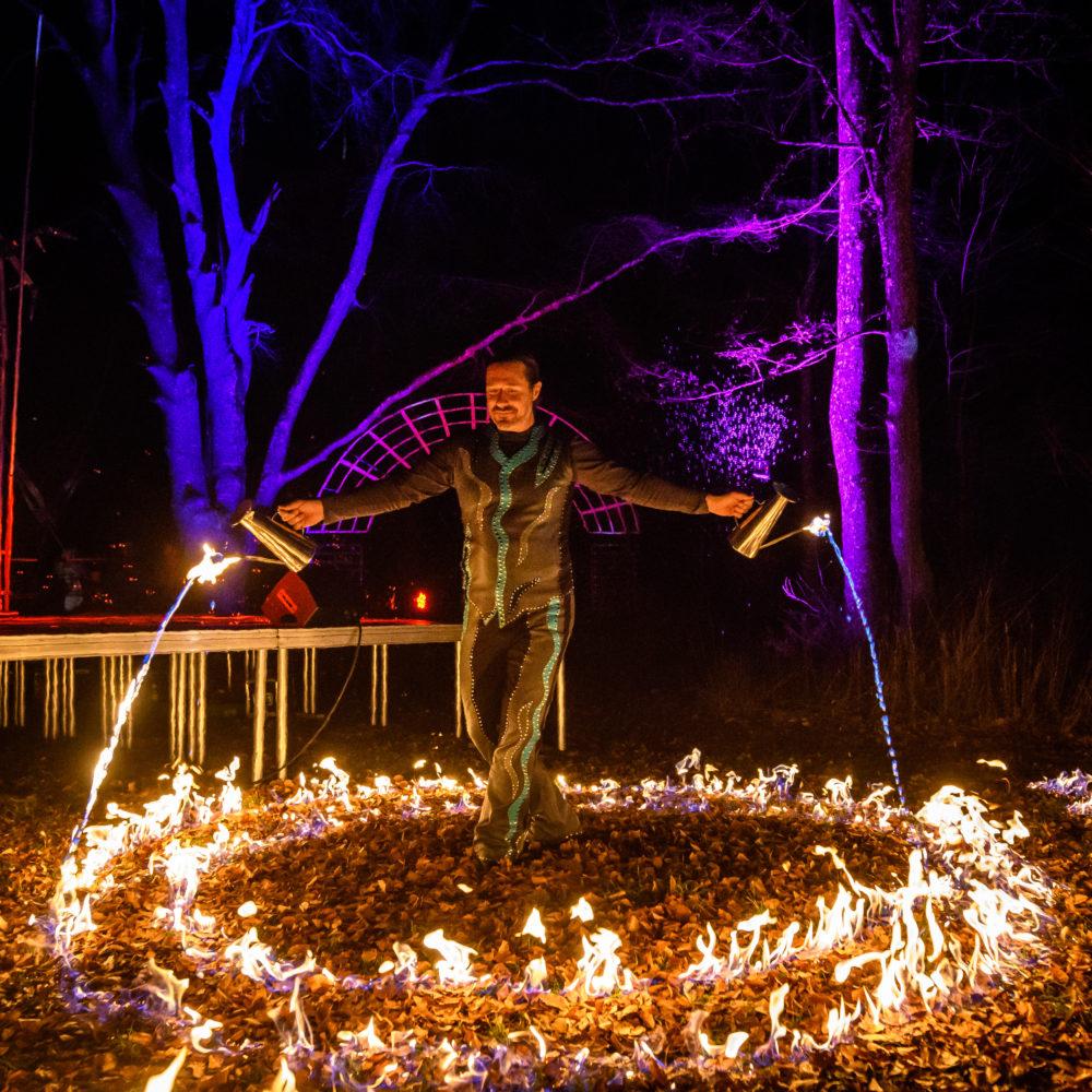 Feuerwerk für Präsentationsevent