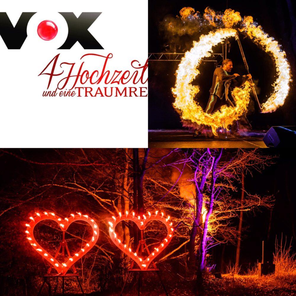 Hochzeitsfeuershow für VOX Brautpaar