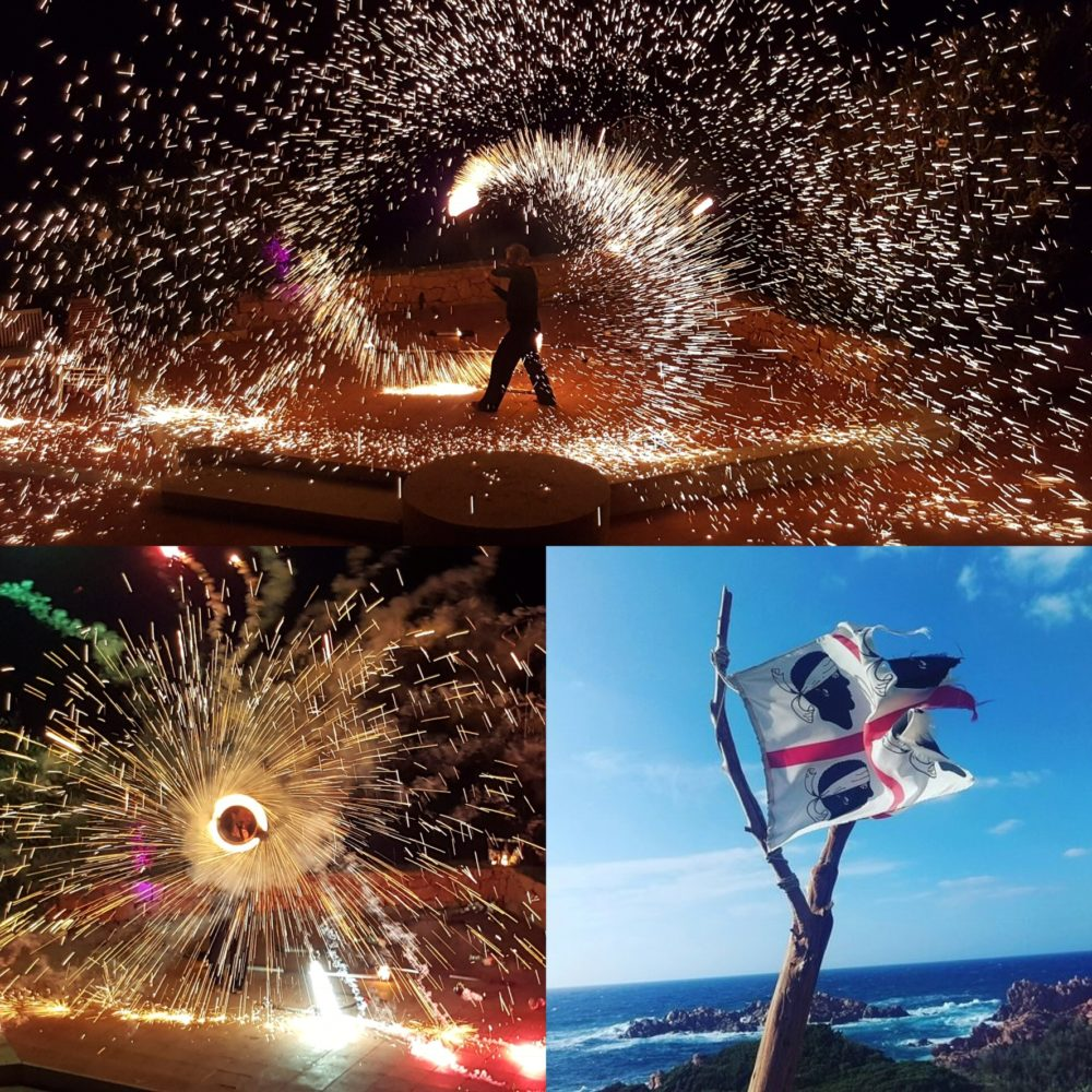 Feuershow auf Sardinien