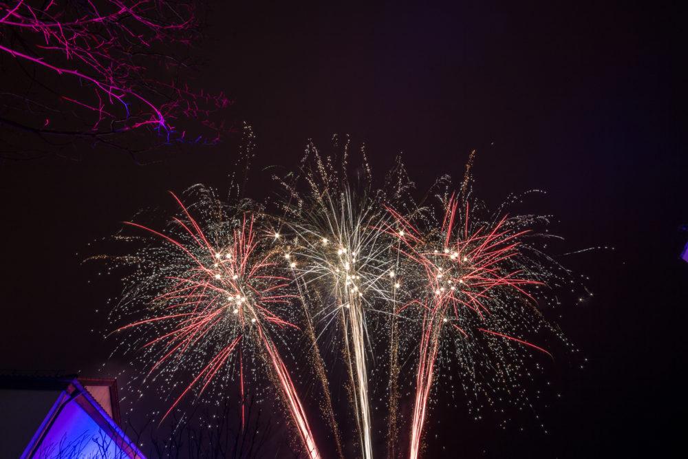 Silvestershow Feuerwerk