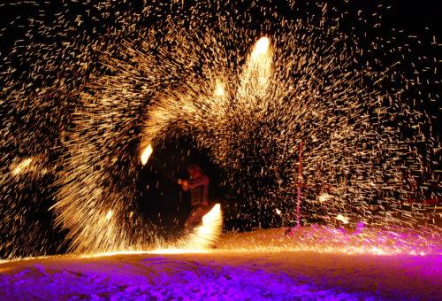 Hochzeitsfeuershow Alpenglühen